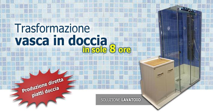 Trasformazione vasca in doccia in Lombardia